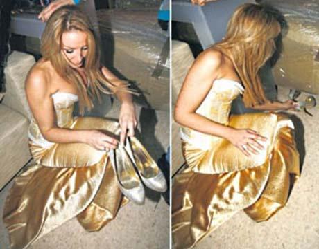 Колежки скрили обувките на Biljana Sečivanović!?
