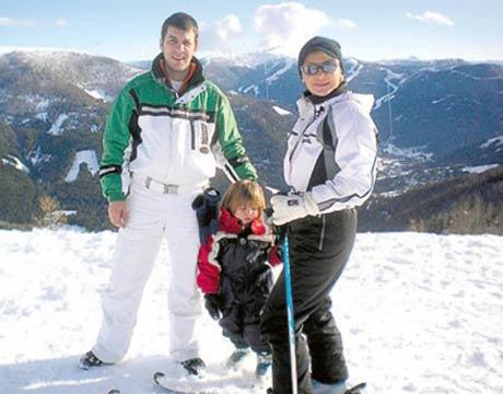 Goca Tržan на семейна почивка в Австрия
