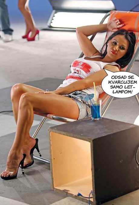 Tina Ivanović замалко да се задуши в солариума