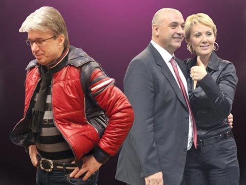 Saša Popović, Lepa Brena и Boba Živojinović