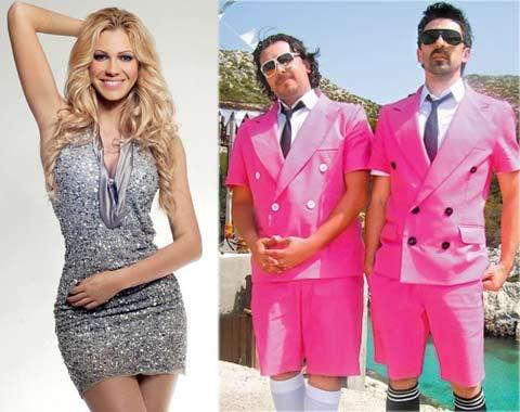 """Flamingosi"" записват песен с Nataša Bekvalac"