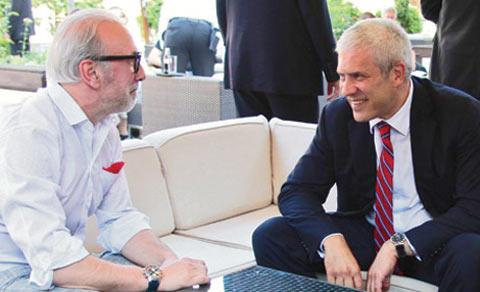 Dino Merlin и Boris Tadić