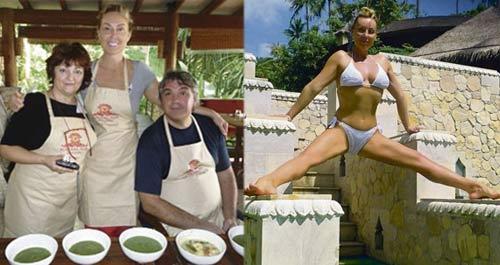 Brena и Boba упражнявали йога в Тайланд