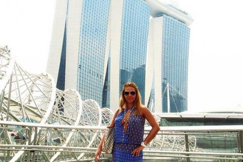 Ana Nikolić в Сингапур с приятеля си