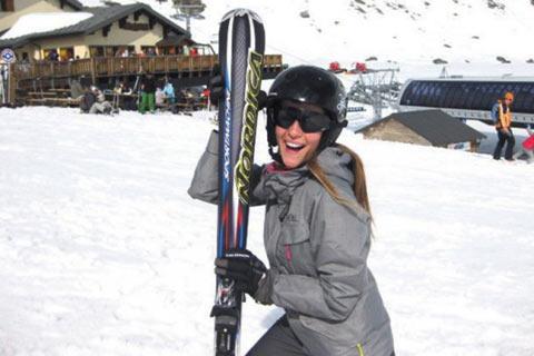 Jelena Kostov на 3 130 метра височина