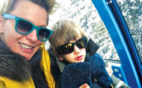 Семейство Dapčević на ски в България