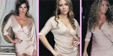 Ana, Indira и Seka в еднакви рокли