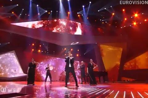 Željko Joksimović на финала на Евровизия под номер 24