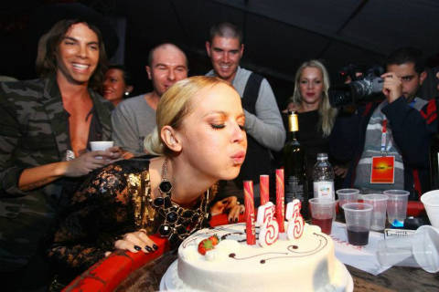 Maja Šuput отпразнува рождения си ден