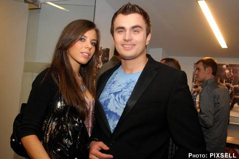 Igor Cukrov с приятелката си отпразнува и сръбската Нова година