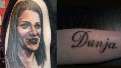 Фен татуира Dunja Ilić на ръката си