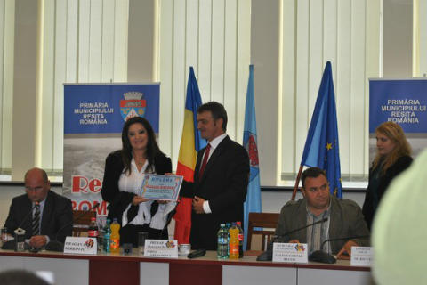 Dragana Mirković на посещение в Румъния