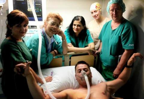 Vlado Geogiev е опериран снощи във ВМА поради спукана плевра
