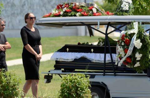 Goga Sekulić погреба мъжа си Igor Ramović