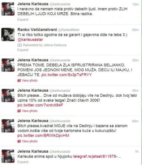 Стигна дъното: Karleuša обижда Seka, че няма деца
