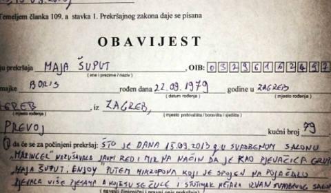 Maja Šuput арестувана: Пяла на сватба и нарушила обществения ред