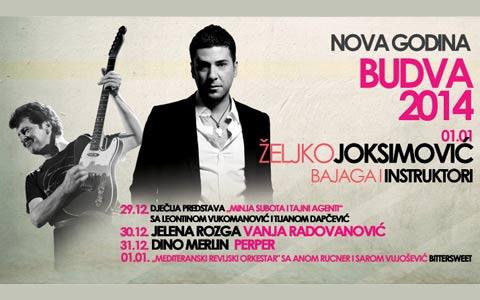 В новогодишната мощ в Будва ще пее Dino Merlin, докато за 1 януари са обявени концерти на Bajaga и Željko Joksimović