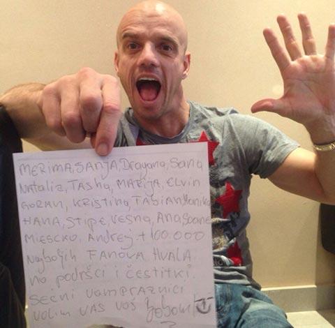 Boban Rajović получи интересно съобщение за рождения си ден