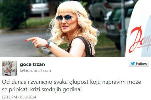 Goca Tržan отпразнува 40-я си рожден ден