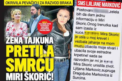 Жената на бизнесмен заплашва Mira Škorić със смърт