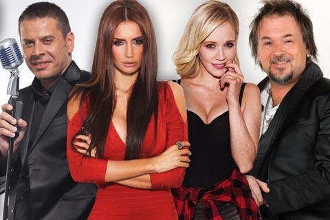 "Emina Jahović, Jelena Rozga, Vlado Georgiev и Zlatan Stipišić Gibonni съдии в ""X Factor Adria"""