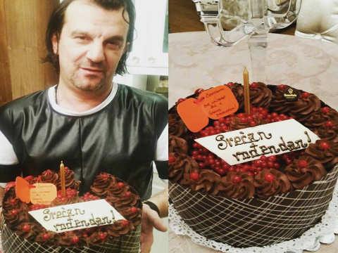 Brena нагласила торта за рождения ден на Aca Lukas