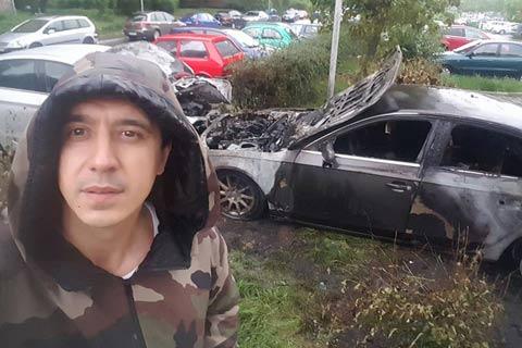 Запалиха автомобила на Marko Bulat