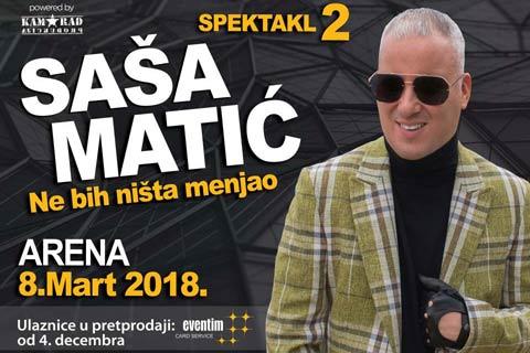 """""""NE BIH NIŠTA MENJAO"""": Saša Matić издаде нов албум"""