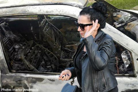 Изгоря автомобилът на Goca Božinovska след ПТП