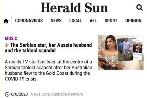 """Австралийският """"Herald Sun"""" и британският """"Daily Mail"""" пишат за Tanja Savić и борбата ѝ за попечителство"""