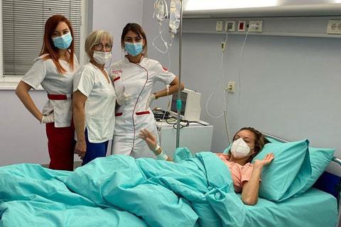 Slavica Ćukteraš в болница