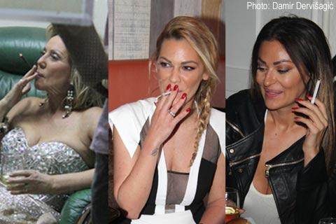 Порочна естрада: Те не вадят цигарата от устата си